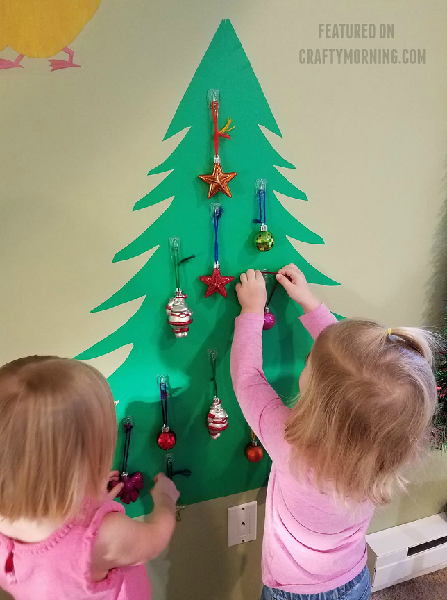 Toddler Proof Christmas Tree.Toddler Proof Wall Christmas Tree Crafty Morning
