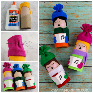 Toilet Paper Roll Christmas Carolers