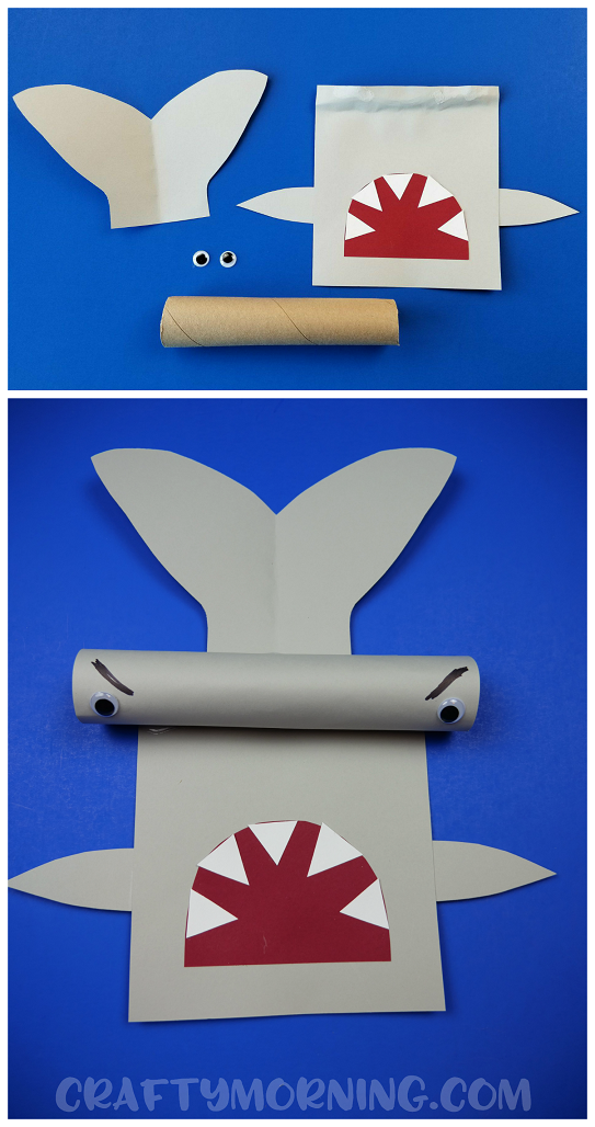 Make a 3D hammerhead shark craft with your kids!! If you have an empty paper towel roll or even a gift wrapping tube it will work!  sc 1 st  Crafty Morning & Cardboard Tube Hammerhead Shark Craft - Crafty Morning
