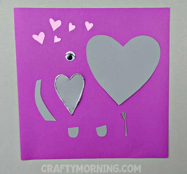 Today We Made A Heart Into An ELEPHANT! Such A Fun And Quick Craft For The  Kids To Make For Valentineu0027s Day!