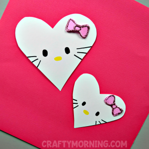 Hello Kitty Heart Valentine Craft