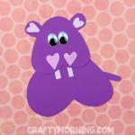 Heart Hippo Valentine Craft