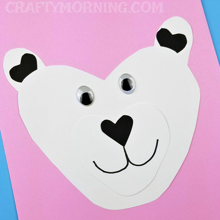Valentine\'s Day Heart Shaped Animal Crafts For Kids - Crafty Morning