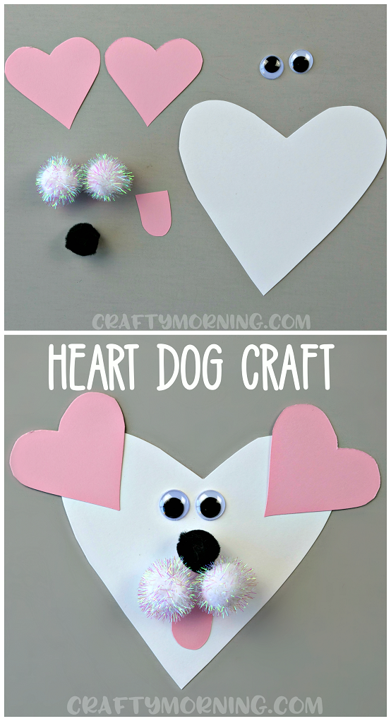 heart shaped dog valentine craft crafty morning