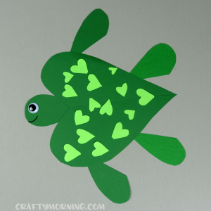 Heart Turtle Valentine Craft