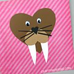 Heart Walrus Valentine Craft