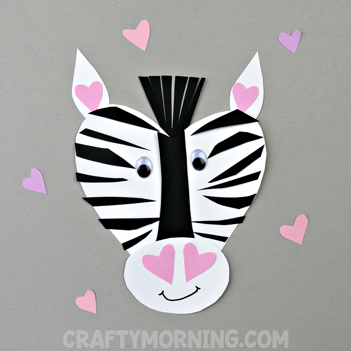 zebra craft @michellepaigeblogs.com