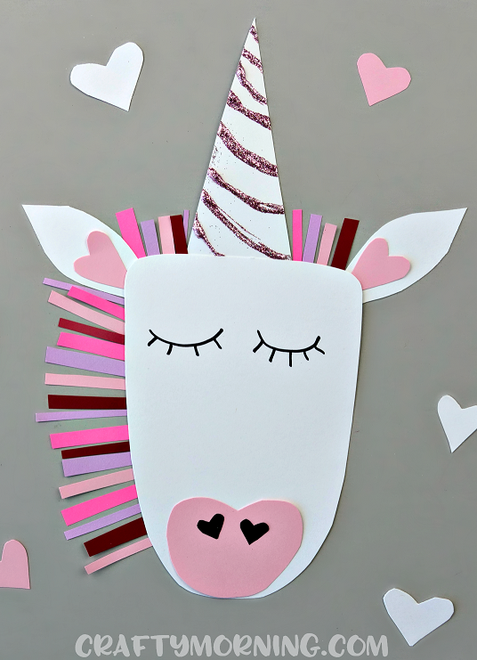Valentine heart unicorn craft crafty morning for Unicorn crafts for kids