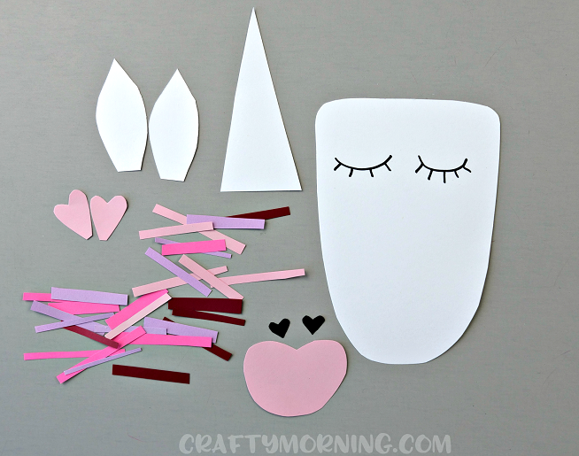 Valentine Heart Unicorn Craft Crafty Morning