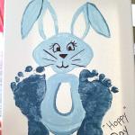 Footprint Easter Bunny Craft