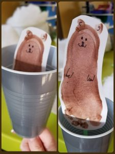 Footprint Groundhog Cup Craft