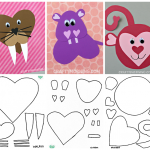 Free Printable Templates of Heart Shape Animals