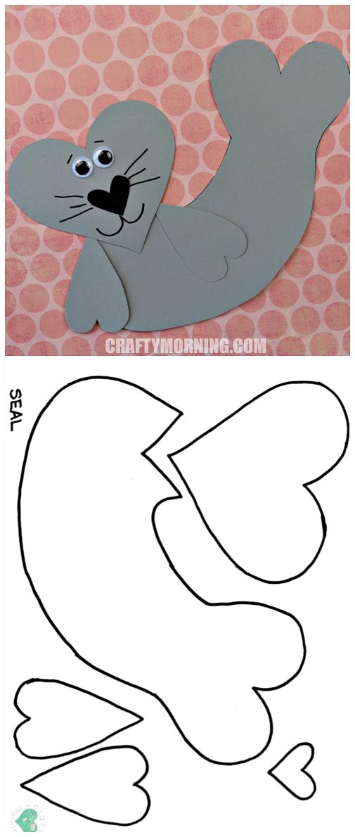 Free printable templates of heart shape animals crafty morning free heart elephant printable template maxwellsz