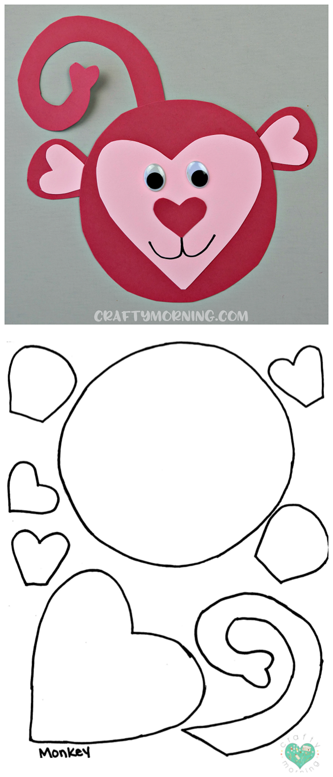 Free Printable Templates Of Heart Shape Animals Crafty Morning