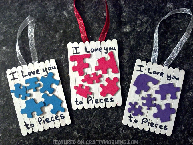 Puzzle Piece Valentine Craft