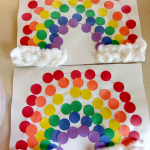 Easy Dot Rainbow Craft for Kids