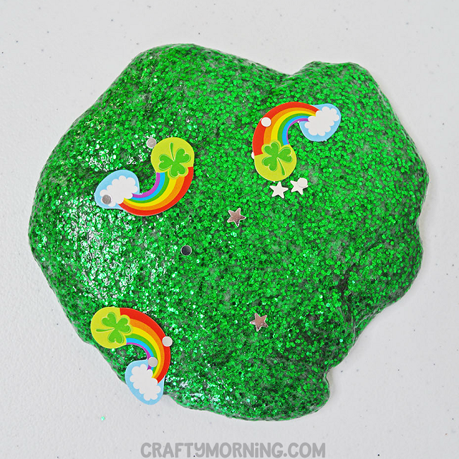 St  Patrick's Day Glitter Slime - Crafty Morning