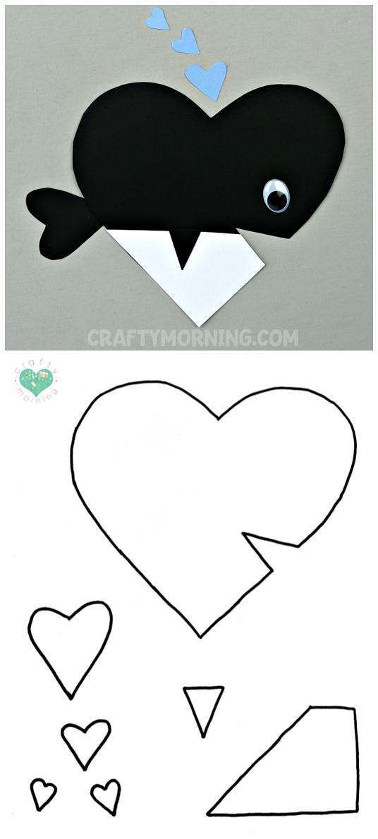 Free printable templates of heart shape animals crafty morning free heart walrus printable template maxwellsz
