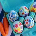 Floral Decoupage Easter Eggs