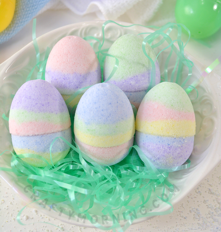 Diy easter egg bath bombs crafty morning easter egg bath bombs materials 2 cups baking soda 1 cup citric acid 20 drops rose essential oil 20 drops geranium essential oil 1 tbsp negle Choice Image