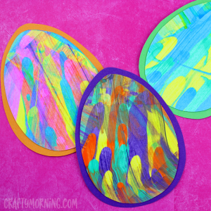 Easter Egg Paint Scrape Craft