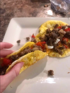 Keto Egg Breakfast Tacos