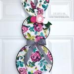 Embroidery Hoop Bunny Door Hanger