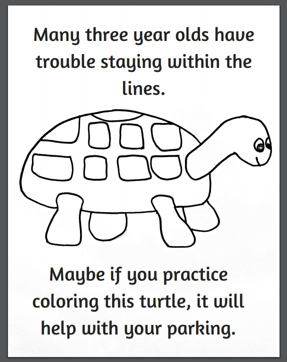 - Funny Turtle Parking Coloring Page - Crafty Morning