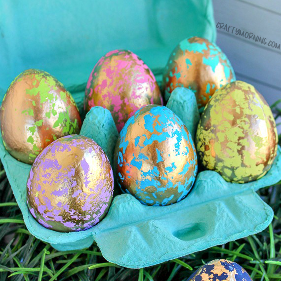 Gold Foil Easter Eggs