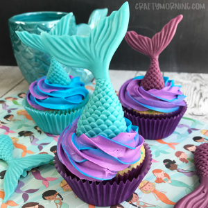 How to Make Mermaid Cupcakes