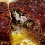 Spinach and Goat Cheese Stuffed Meatloaf