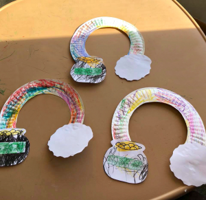 Paper Plate Rainbow Pot O' Gold Craft