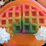 Rainbow Waffles for St. Patrick's Day
