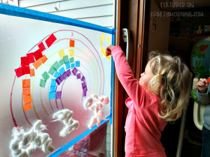 Sticky Rainbow Wall (Kids Activity)