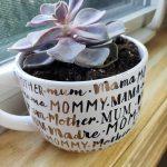Succulent Coffee Mug Planters