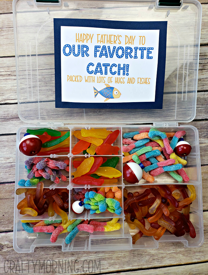 tackle box candy father s day gift crafty morning