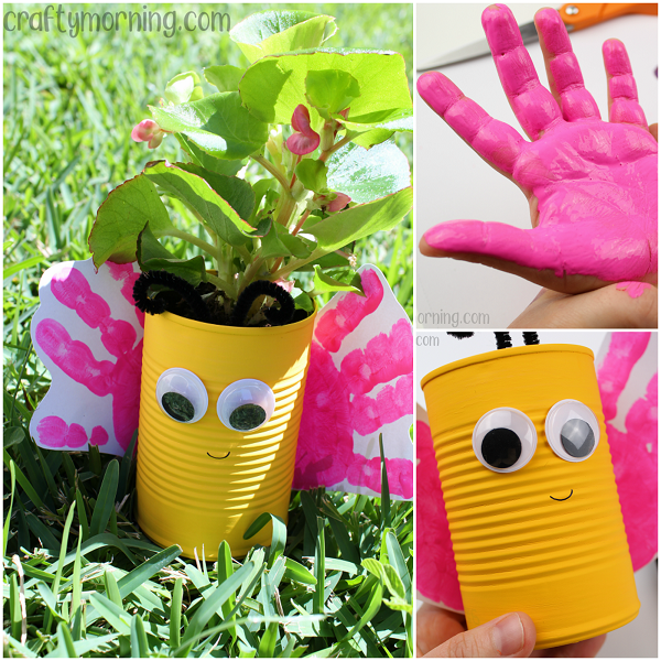 Tin Can Butterfly Planters
