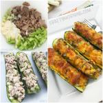 Keto Tuna Zucchini Boat Melts