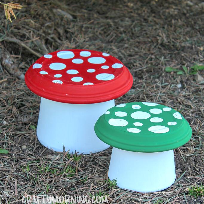 Terra Cotta Pot Garden Mushrooms