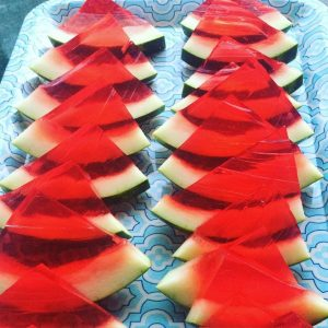 Watermelon Slice Jello Shots