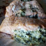 Spinach Artichoke Stuffed Salmon