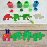 Moving Very Hungry Caterpillar Puzzle Craft
