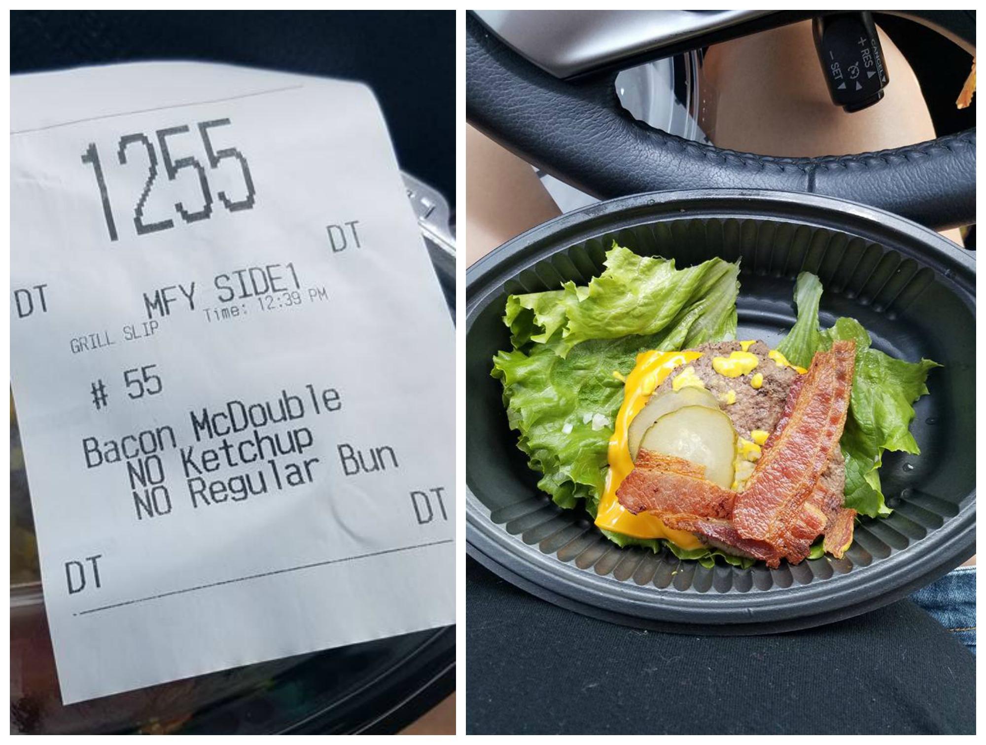 Five Guys Keto Burger and Hot Dog NO KETCHUP A