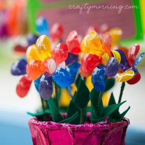 Recycled Bottle Flower Craft