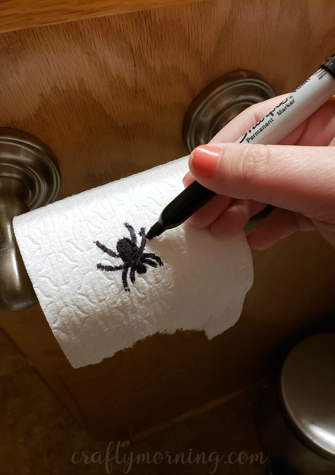 Funny Toilet Paper Spider Prank Crafty Morning