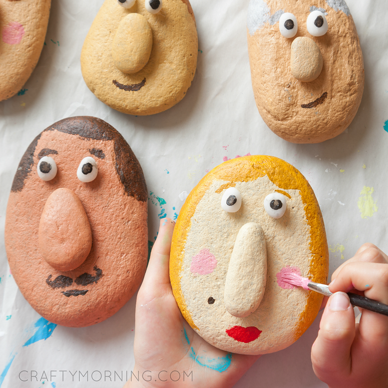 Silly Stone Faces (Kids Craft)