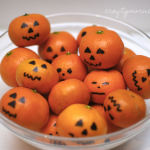 Decorate Clementines like Jack-O-Lanterns