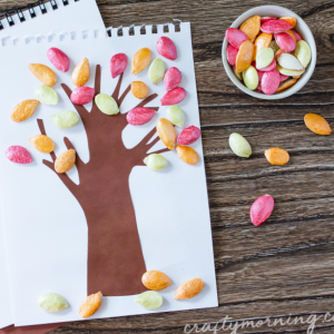 Pumpkin Seed Fall Tree Craft