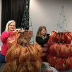 How to Make Tomato Cage Deco Mesh Christmas Trees