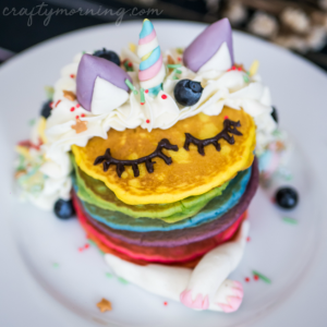 Unicorn Birthday Pancakes